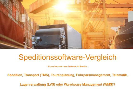 Speditionssoftware-vergleich - Die Softwaresuchmaschine spezielle für Logistiker