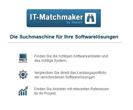 IT-Matchmaker - Die Suchmaschine für Softwarelösungen